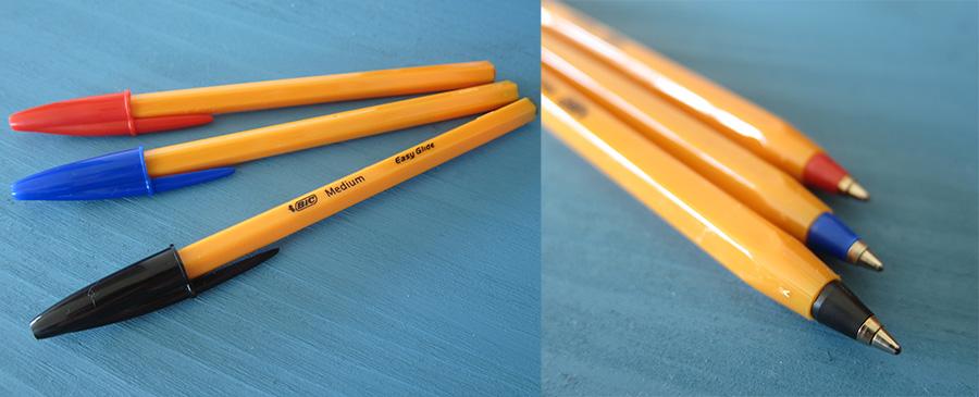 BIC オレンジ ボールペン