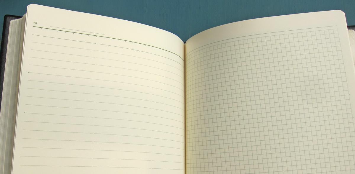 能率手帳のメモページ