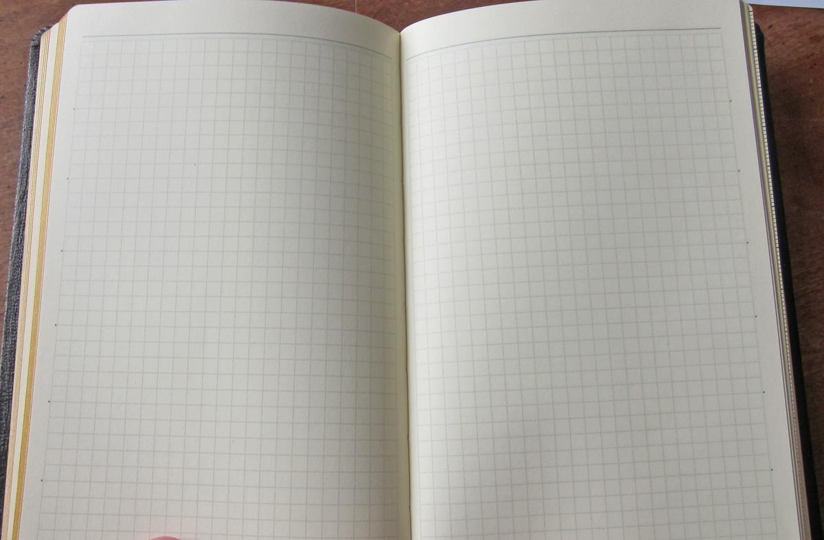 能率手帳ゴールドのノート