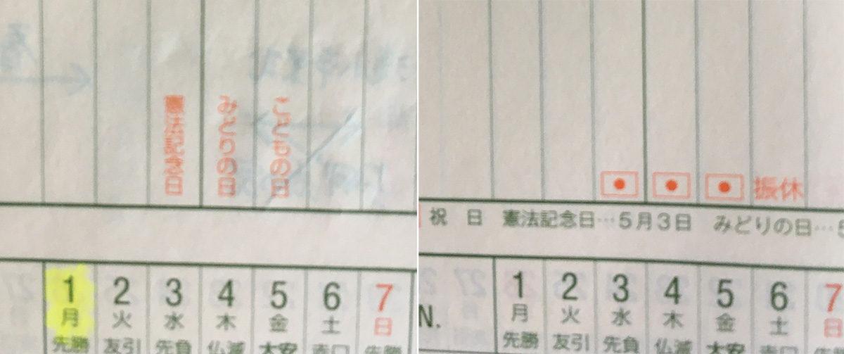 能率手帳ゴールドのガントチャート