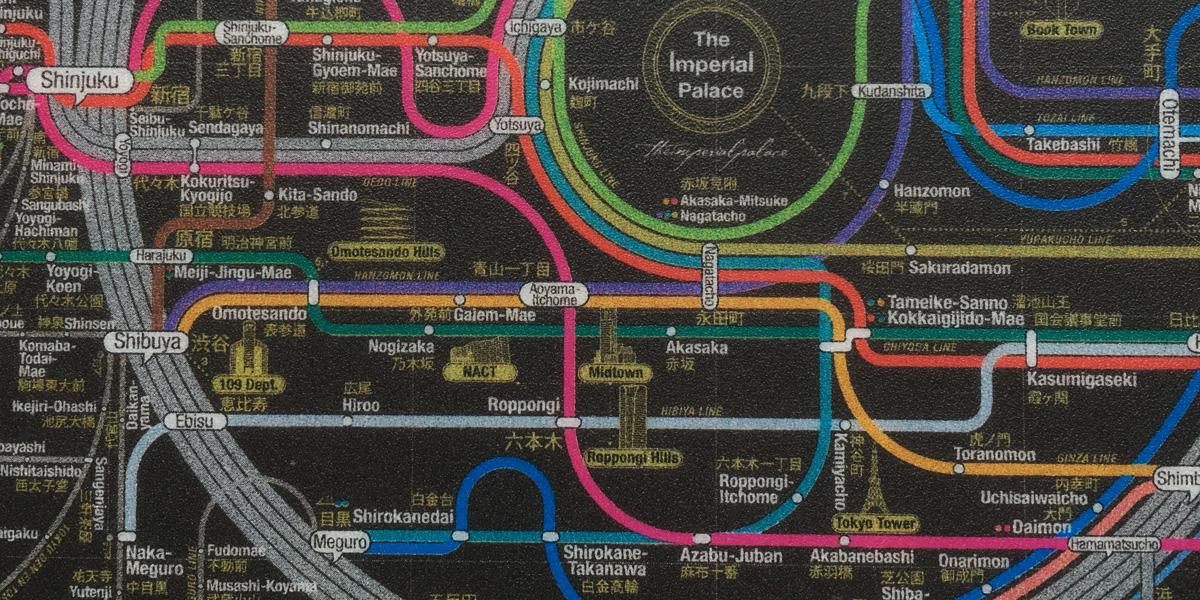 東京近郊路線図のマウスパッド
